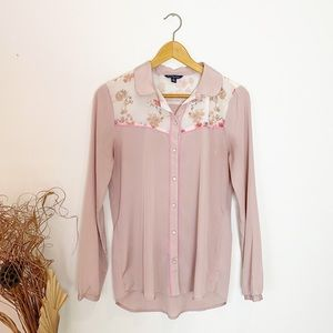American Eagle Western Cottage Core Pink Floral